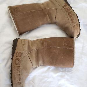 SOREL suka waterproof leather boots 7.5